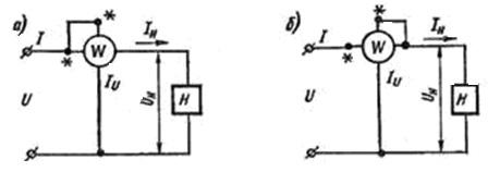 Схема включения ваттметра цепь 257